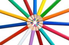 πολύχρωμα μολύβια ξύλινα Στοκ Εικόνες