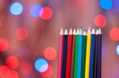 Πολύχρωμα μολύβια Στοκ Εικόνες
