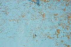 Πολύχρωμα σύσταση και υπόβαθρο τοίχων αποφλοίωσης μπλε Επιφάνεια W Στοκ Φωτογραφίες