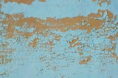 Πολύχρωμα σύσταση και υπόβαθρο τοίχων αποφλοίωσης μπλε Επιφάνεια W Στοκ Εικόνες
