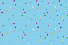 Πολύχρωμα τρίγωνα στο μπλε υπόβαθρο Στοκ φωτογραφίες με δικαίωμα ελεύθερης χρήσης