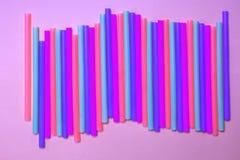 Πολύχρωμα tubules φραγμών στοκ φωτογραφία με δικαίωμα ελεύθερης χρήσης
