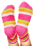 πολύχρωμες κάλτσες Στοκ εικόνες με δικαίωμα ελεύθερης χρήσης