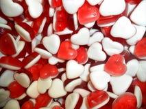 πολύχρωμες καραμέλες υπό μορφή καρδιών στοκ φωτογραφίες με δικαίωμα ελεύθερης χρήσης