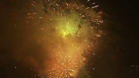 Πολύχρωμη ανατίναξη πυροτεχνημάτων απόθεμα βίντεο