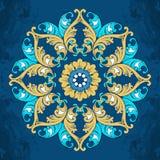 Πολύχρωμη διακόσμηση σε ένα μπλε υπόβαθρο Στοκ Εικόνες