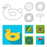 Πολύχρωμη κολυμπώντας περίληψη κύκλων, επίπεδα εικονίδια στην καθορισμένη συλλογή για το σχέδιο Διαφορετικό απόθεμα συμβόλων life Στοκ φωτογραφίες με δικαίωμα ελεύθερης χρήσης