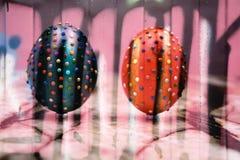 Πολύχρωμη νέα κάρτα Πάσχα σχεδίων διακοσμήσεων πρόσκλησης Στοκ Εικόνες