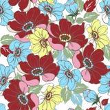 Πολύχρωμη floral άνευ ραφής διακόσμηση Διακοσμητική διακόσμηση backd Στοκ Εικόνες