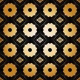 Πολύχρωμοι κύκλοι σχεδίων υποβάθρου arabesque διανυσματική απεικόνιση