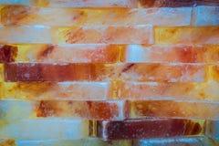 Πολύχρωμος αλατισμένος τουβλότοιχος Τοίχος Colorfull στοκ εικόνες