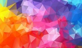 Πολύχρωμος γεωμετρικός το τριγωνικό χαμηλό πολυ γραφικό υπόβαθρο απεικόνισης κλίσης ύφους origami Στοκ Εικόνες