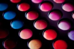 πολύχρωμος χλωμός επαγγελματίας σκιάς ματιών Στοκ φωτογραφία με δικαίωμα ελεύθερης χρήσης