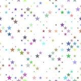 Πολύχρωμο άνευ ραφής υπόβαθρο σχεδίων αστεριών - διανυσματικό σχέδιο Στοκ Φωτογραφίες
