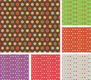 πολύχρωμο αναδρομικό σύνολο προτύπων Στοκ Εικόνες