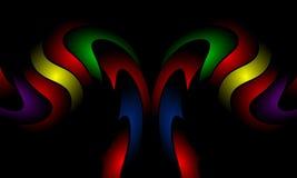 Πολύχρωμο πρότυπο σχεδίου αφαίρεσης κυμάτων χρώματος Απεικόνιση, καμπύλη ελεύθερη απεικόνιση δικαιώματος