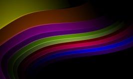 Πολύχρωμο πρότυπο σχεδίου αφαίρεσης κυμάτων χρώματος Απεικόνιση, καμπύλη απεικόνιση αποθεμάτων