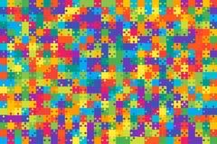 Πολύχρωμο τορνευτικό πριόνι κομματιών γρίφων - διάνυσμα Στοκ φωτογραφία με δικαίωμα ελεύθερης χρήσης