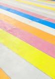 πολύχρωμο χρωματισμένο π&epsilo Στοκ φωτογραφίες με δικαίωμα ελεύθερης χρήσης