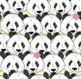 Πολύ άνευ ραφής σχέδιο pandas Στοκ φωτογραφίες με δικαίωμα ελεύθερης χρήσης