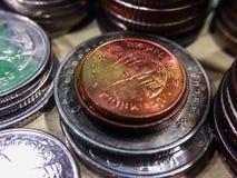 Πολύ νόμισμα κινηματογραφήσεων σε πρώτο πλάνο Στοκ Εικόνες