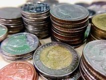 Πολύ νόμισμα κινηματογραφήσεων σε πρώτο πλάνο Στοκ Εικόνα