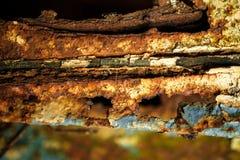 Πολύ παλαιό σκουριασμένο υπόβαθρο μετάλλων στοκ φωτογραφίες