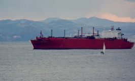 Πολύ όμορφη εικόνα με το σκάφος στοκ φωτογραφία με δικαίωμα ελεύθερης χρήσης