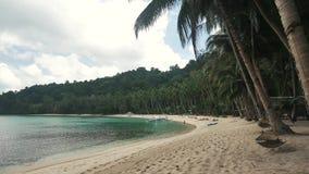 Πολύ όμορφη τροπική παραλία στις Φιλιππίνες απόθεμα βίντεο