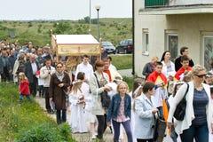 πομπή ημέρας σωμάτων christi θρησκευτική Στοκ φωτογραφία με δικαίωμα ελεύθερης χρήσης