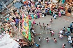 Πομπή του ινδού κριού, Sita και Hanuman Θεών Στοκ εικόνες με δικαίωμα ελεύθερης χρήσης