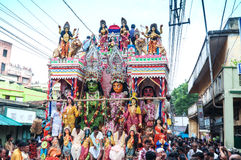Πομπή του ινδού κριού, Sita και Hanuman Θεών Στοκ εικόνα με δικαίωμα ελεύθερης χρήσης