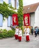 Πομπή του ST Johannes σε Oberrrotweil, Γερμανία Στοκ εικόνες με δικαίωμα ελεύθερης χρήσης