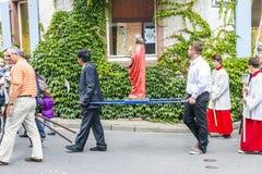 Πομπή του ST Johannes σε Oberrrotweil, Γερμανία Στοκ Εικόνα