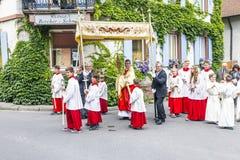 Πομπή του ST Johannes σε Oberrrotweil, Γερμανία Στοκ φωτογραφίες με δικαίωμα ελεύθερης χρήσης