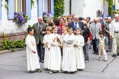 Πομπή του ST Johannes σε Oberrrotweil, Γερμανία Στοκ εικόνα με δικαίωμα ελεύθερης χρήσης