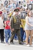 Πομπή των ανθρώπων στο αθάνατο σύνταγμα στην ετήσια νίκη Στοκ Φωτογραφία