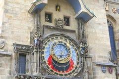Πομπή των αποστόλων στο αστρονομικό ρολόι στην παλαιά πόλη Πράγα, Δημοκρατία της Τσεχίας στοκ εικόνα