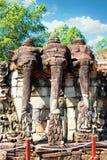 Πομπή των ελεφάντων στο πεζούλι ελεφάντων, Angkor Thom, Καμπότζη Στοκ Φωτογραφία