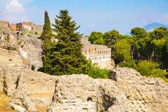 Πομπηία, ανασκαφές της Πομπηίας Ιστορικές ρωμαϊκές καταστροφές Ιταλία στοκ εικόνες