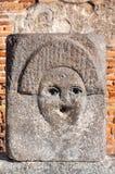 Πομπηία, η καλύτερα συντηρημένη αρχαιολογική περιοχή στον κόσμο, Ιταλία Λεπτομέρεια της δημόσιας πηγής στοκ εικόνες με δικαίωμα ελεύθερης χρήσης
