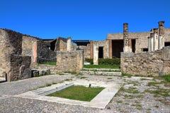 Πομπηία, Ιταλία: αρχαία ρωμαϊκή πόλη Στοκ φωτογραφία με δικαίωμα ελεύθερης χρήσης