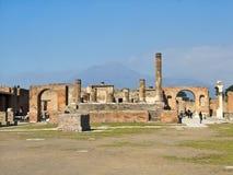 Πομπηία, Ιταλία, οι καταστροφές του ναού Δία Στοκ Εικόνες