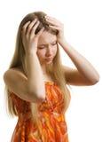 πονοκέφαλος έμμονος στοκ φωτογραφίες
