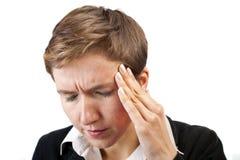 πονοκέφαλος επιχειρημ&alph στοκ εικόνες