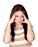 πονοκέφαλος κοριτσιών π&om στοκ εικόνα με δικαίωμα ελεύθερης χρήσης