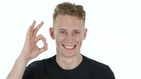 Πονοκέφαλος, τονισμένος νεαρός άνδρας στο άσπρο υπόβαθρο Στοκ φωτογραφία με δικαίωμα ελεύθερης χρήσης