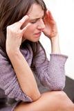 Πονοκέφαλος γυναικών Στοκ εικόνες με δικαίωμα ελεύθερης χρήσης