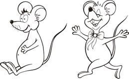 ποντίκια κινούμενων σχεδίων διανυσματική απεικόνιση