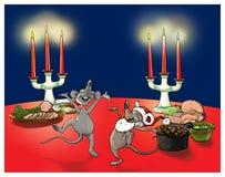 Ποντίκια Χριστουγέννων Στοκ Φωτογραφία